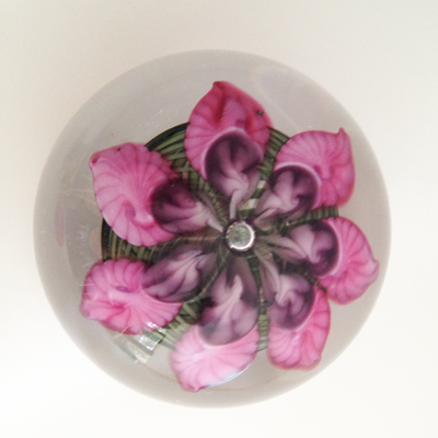 Spiral Paperweight by Vandermark Merritt Glass Studios, INC