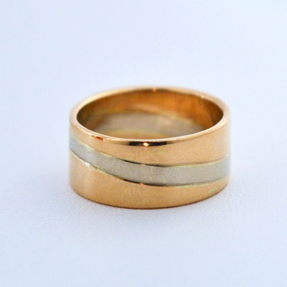 Tidal 14k Two-Tone 8mm Ring Size 4.5-7.5