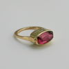 Flawless: Maine Designer Cut Tourmaline Ring in 14K Yellow Gold