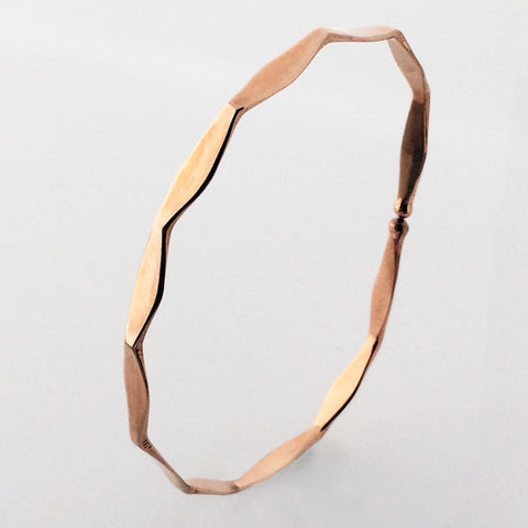 Faceted Rose Gold Bracelet