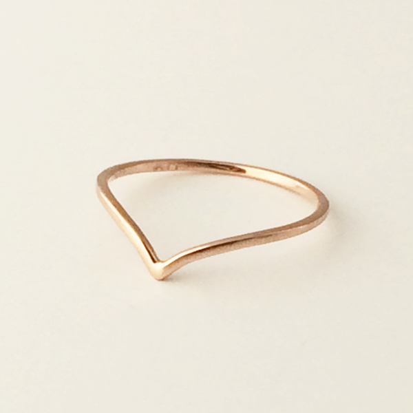Chevron Mid Ring: Small