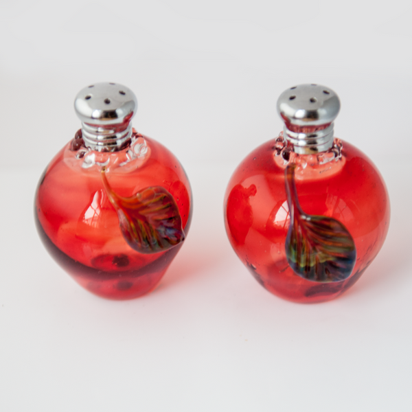 Apple Salt & Pepper Shaker Set by Glass Act