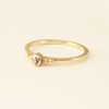 Delightful: Diamond Promise Ring in 14k Yellow Gold