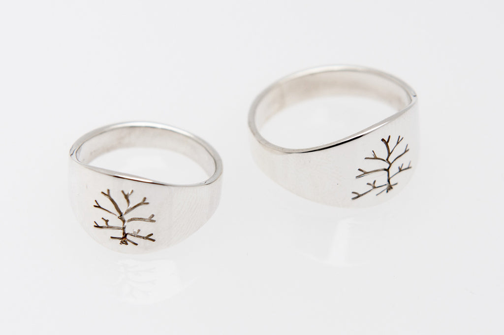 Tree of Life: Men's Sterling Silver Ring