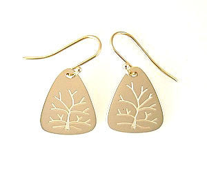 Tree Of Life Cut Out Earrings in 14k Yellow Gold