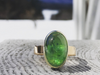 Intervale: Maine Green Tourmaline 14k Solid Gold Ring