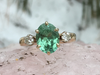 Ocean Green: Maine Tourmaline and Diamond 14k Gold Ring