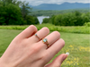 Blue Sky: Maine Tourmaline 14K Yellow Gold Ring