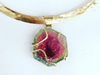 Watermelon Dream: Maine Watermelon Tourmaline Yellow Gold Pendant
