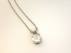 Wedding Day: Rose Quartz 14K White Gold Pendant