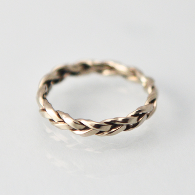 Intertwined Trilogy: Braided 2.5mm Ring Size 4.5-7.5