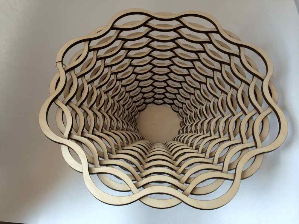 Woven Wooden Bowl, Loops
