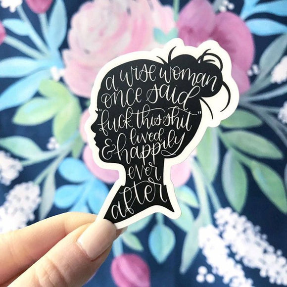 A Wise Woman Vinyl Sticker by Elyse Breanne Design