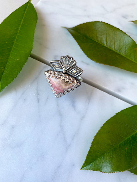 Rhodonite Sacred Heart Statement Ring