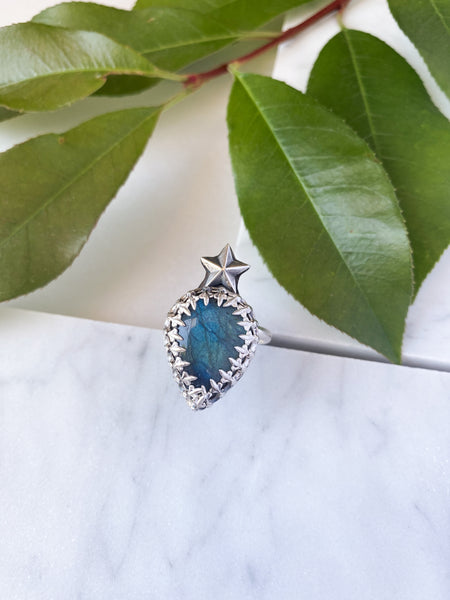 Star Labradorite Ring