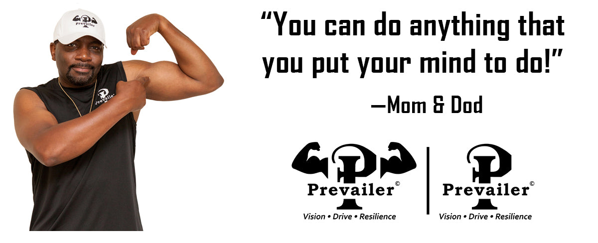 Prevailer motivational fitness apparel - Founder, Kenneth L Montgomery