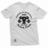 """400 LB Bench Press Milestone"" Prevailer Tee"