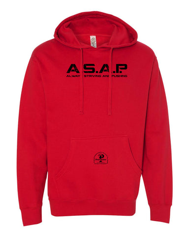 """ASAP: Always Striving and Pushing"" Prevailer Hooded Sweatshirt"