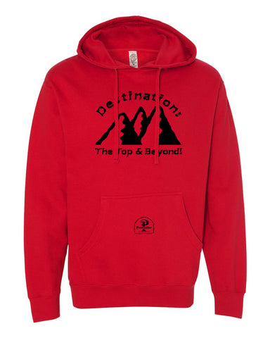 """Destination: The Top & Beyond!"" Prevailer Hooded Sweatshirt"