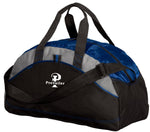 """Prevailer"" Embroidered All Purpose Contrast Duffel Bag"