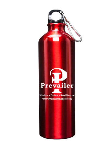 """Prevailer Classic"" 25 oz. Aluminum Water Bottle with Carabiner"