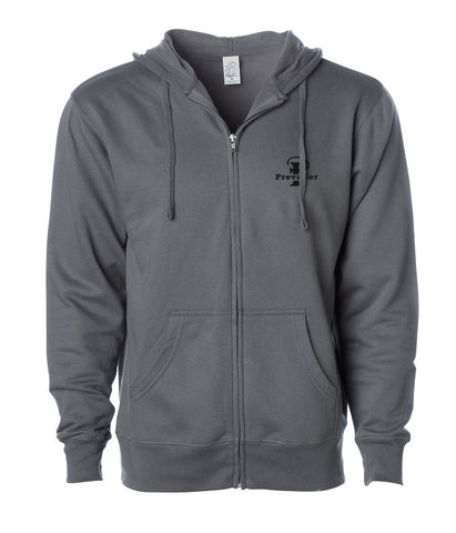 """Prevailer"" Embroidered Midweight Zip Hooded Sweatshirt"