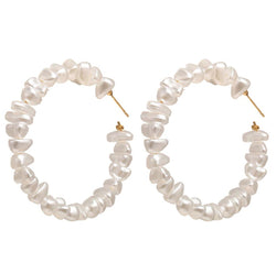 Olivia Pearl Hoop Earrings - Dreamnovate