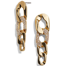 Penelope Curb Chain Drop Earrings - Dreamnovate