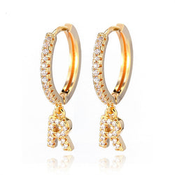 Ava Initial Hoop Earrings - Dreamnovate
