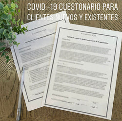 COVID-19 Questionnaire For New and Existing Clients ( Spanish )