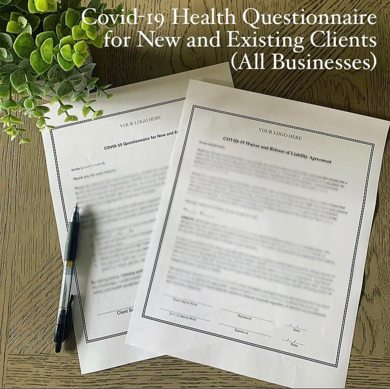 COVID-19 Questionnaire For New and Existing Clients