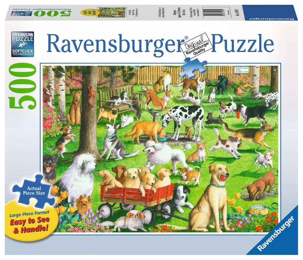 At the Dog Park - 500 piece (large pieces)