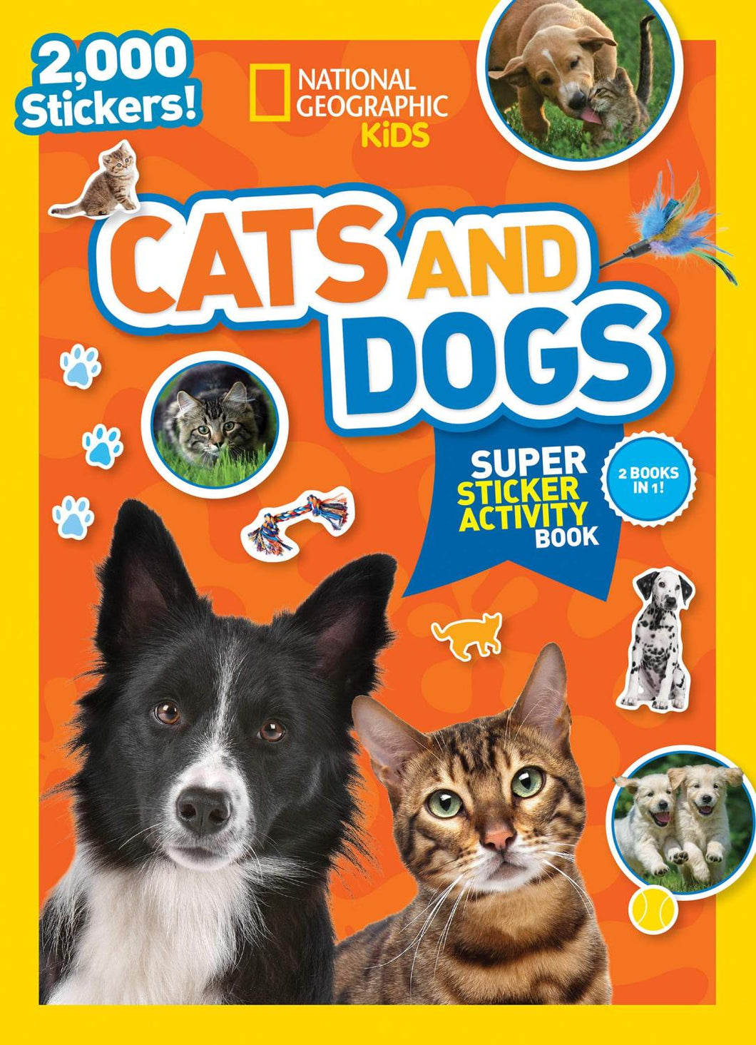 Cats & Dogs Super Sticker Activity Book by National Geographic