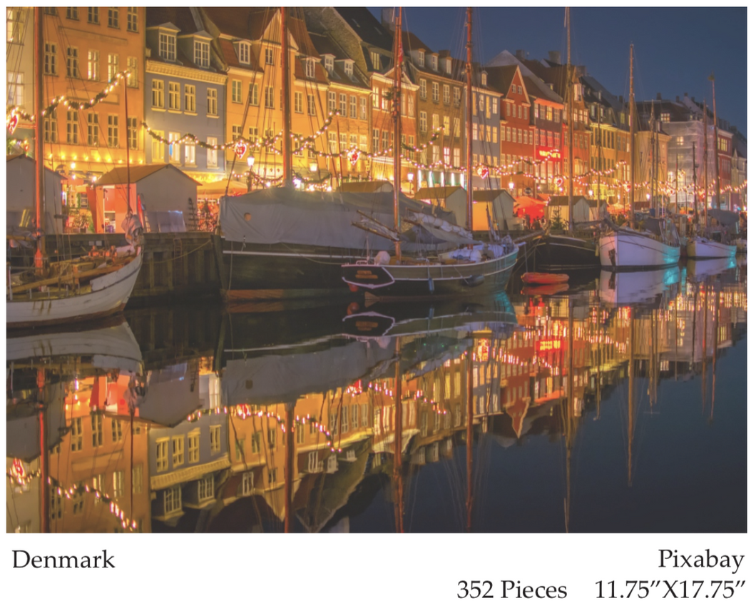 Denmark Boats Birch Wood - 500 piece