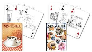 Dog and Cat (New Yorker) Playing Cards