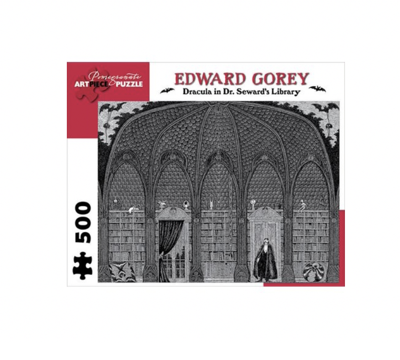 Edward Gorey: Dracula in Dr. Seward's Library - 500 piece