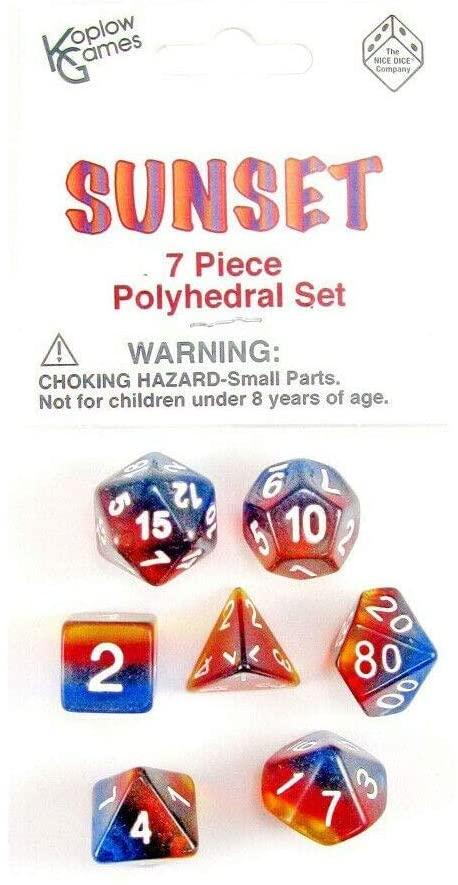 Sunset Dice Set Box