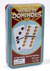 Dominoes Dbl 6 TIN Color