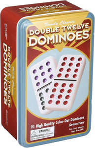 Dominoes Dbl 12 TIN Color