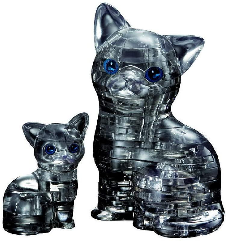Cat & Kitten 3D Crystal Puzzle