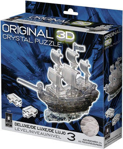 Pirate Ship BLACK 3D Crystal