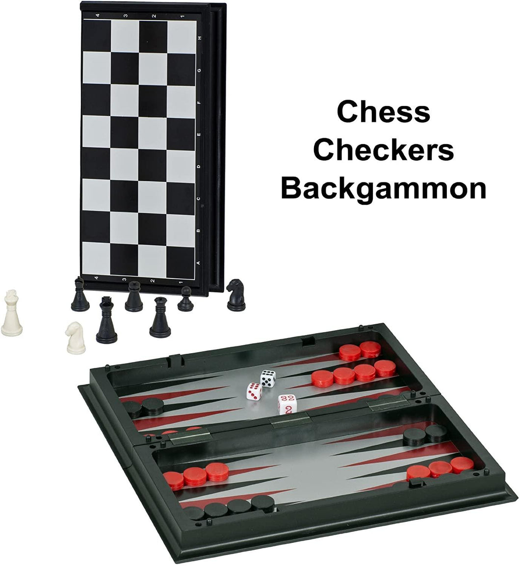 3-in-1 Chess, Checkers,