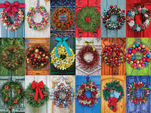 Holiday Wreaths - 500 piece
