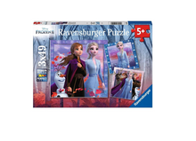 Load image into Gallery viewer, Frozen II: The Journey Starts - 3 x 49 piece puzzles
