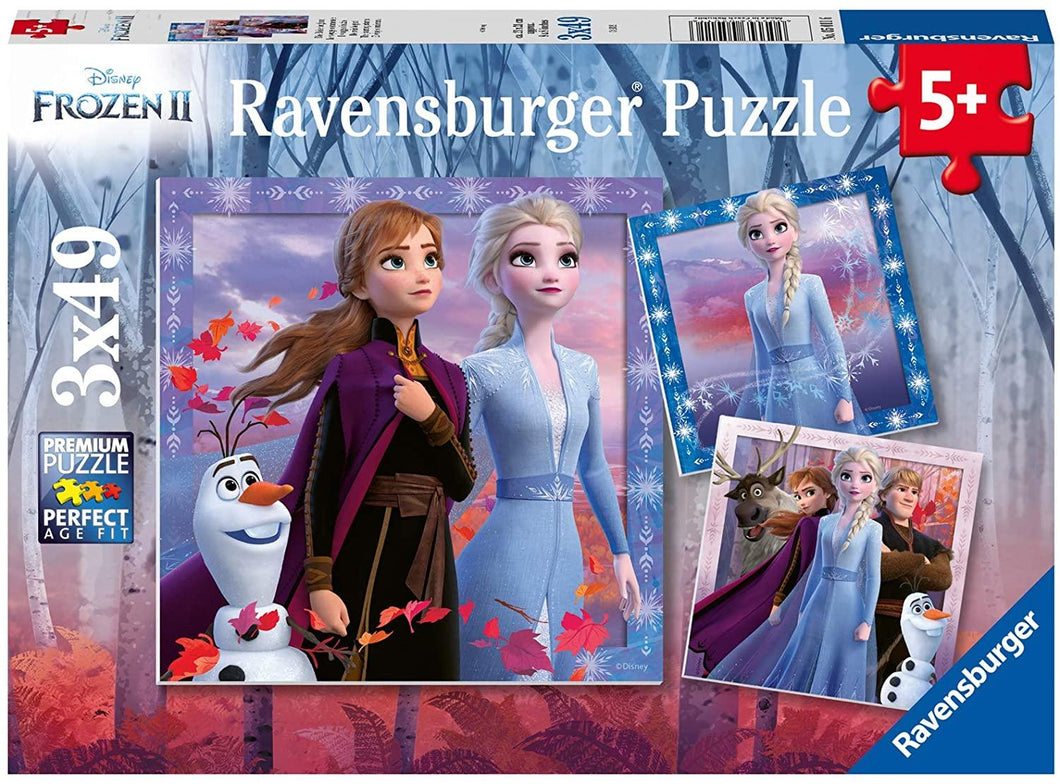 Frozen II: The Journey Starts - 3 x 49 piece puzzles