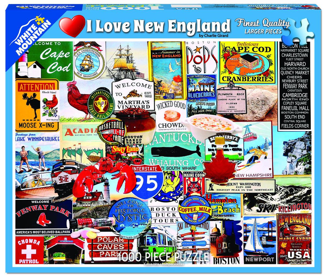 I Love New England - 1000 piece