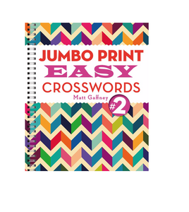 Jumbo Print Easy Crosswords 2