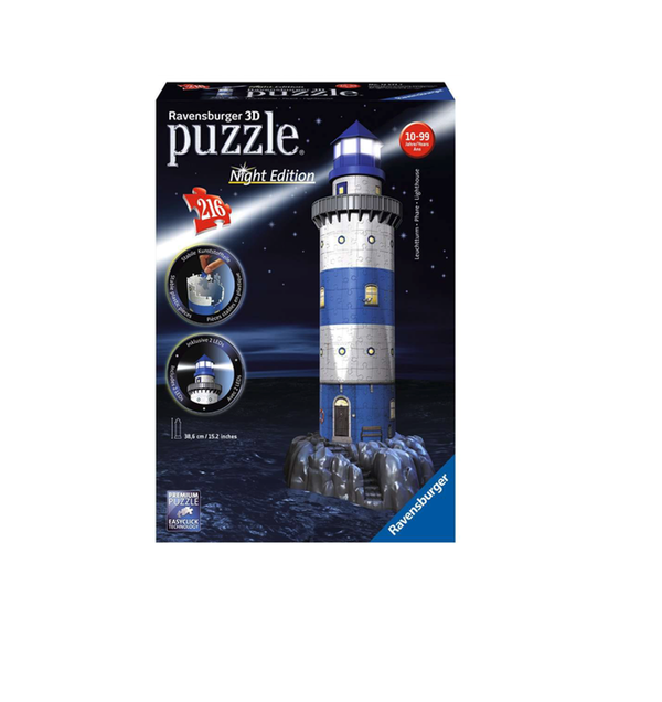 Lighthouse 3D Puzzle Night Edition