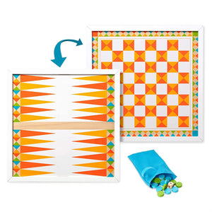 Melissa & Doug Wooden Backgammon & Checkers
