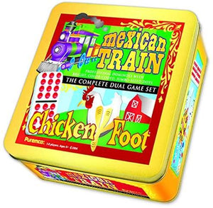 Mexican Train & Chicken Dbl 12 Colored Dot Dominoe